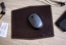 Коврик для мыши из натуральной кожи, коврик для мыши купить, mouse pad, mouse pad buy