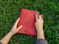 Блокнот из натуральной кожи, деловой дневник из натуральной кожи, кожаный блокнот, Infolk, кожаный ежедневник