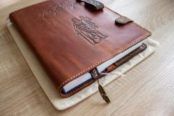 Обложка на книгу из натуральной кожи, обложка на нотариальный реестр, реестр для регистрации нотариальных действий, реєстр для реєстрації нотаріальних дій, обкладинка на нотаріальний реєстр