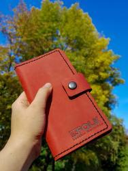Портмоне из натуральной кожи, кошелек из натуральной кожи, кожаный кошелек, Infolk, кожаное портмоне купить